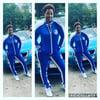 Sexy Ladies Wear Blue Jogging Suit