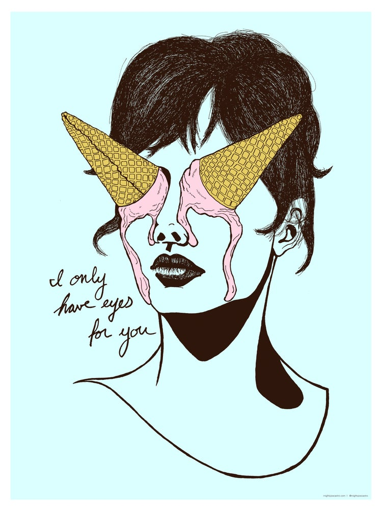 Image of I Only Have Eyes For You - ice cream themed illustration