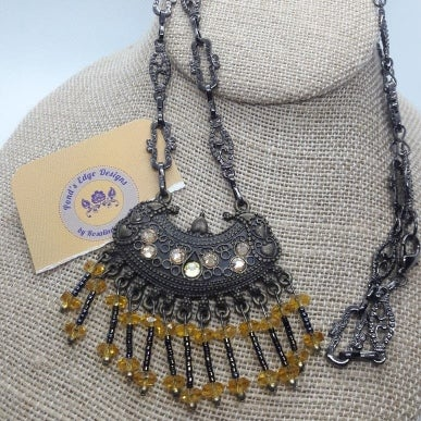Image of Bronze Bib Necklace