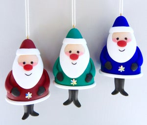 Image of New 2021 Jolly Jiggly Santa Colours: Teal & Periwinkle
