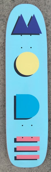 "Image of ""Mode Deco"" 29"" single-kick freestyle deck (baby blue)"