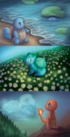 Pokemon Starter Prints