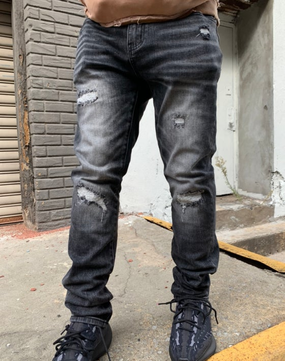 Image of Black wash denim