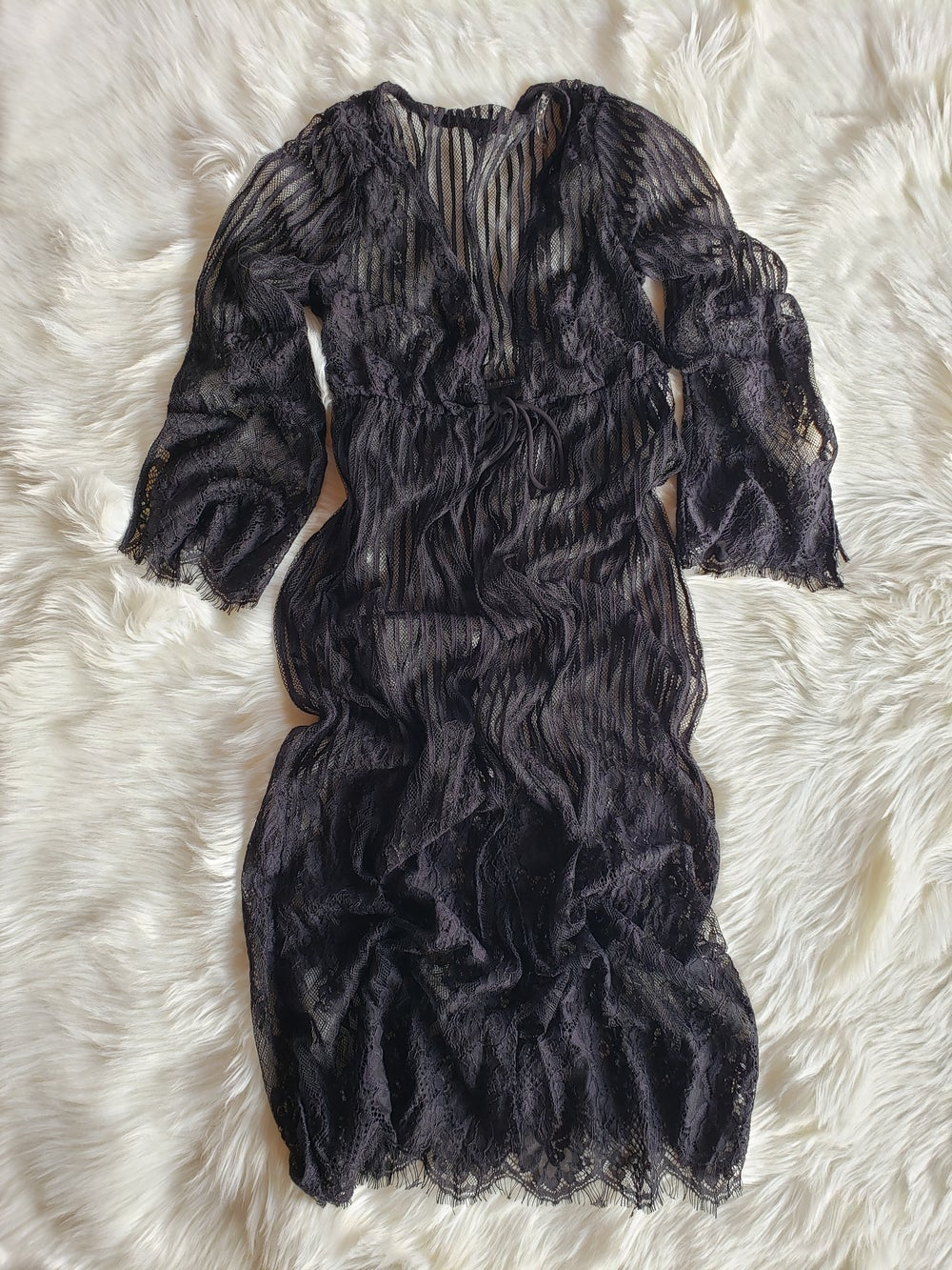 Image of Black Lace Kimono