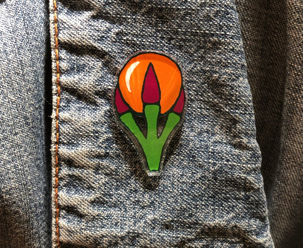 Image of Behold Acrylic Pin
