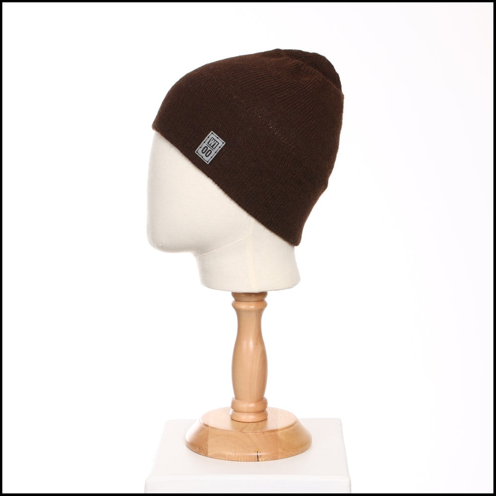 Image of Minimal Wide Band Toque (dark brown alpaca) - 100 Mile Wardrobe Series