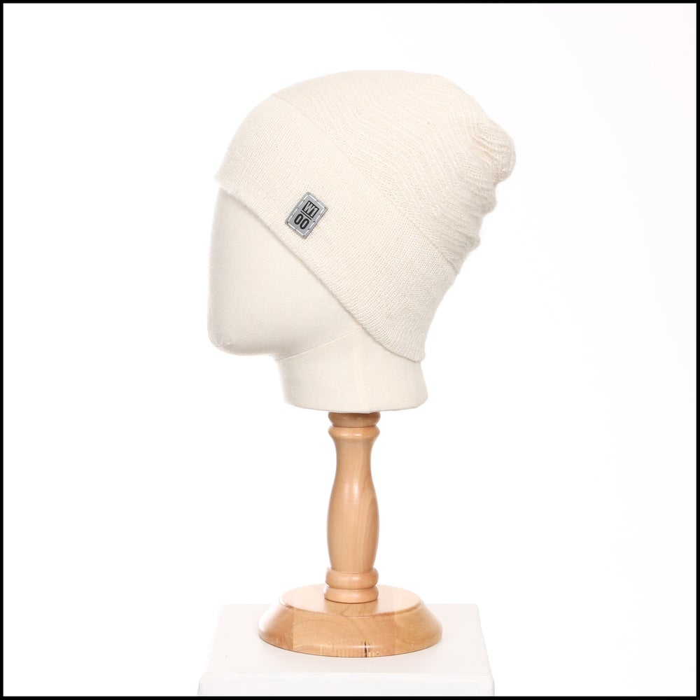 Image of Echoing Peaks Textured Toque (white alpaca) - 100 Mile Wardrobe Series