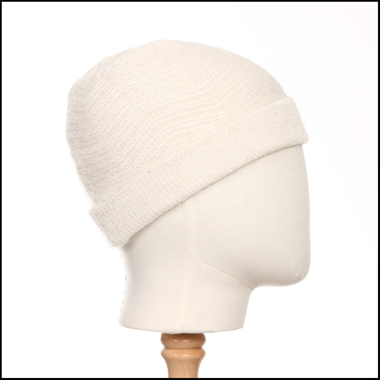 Image of Echoing Peaks Textured Toque (white alpaca) - 100 Mile Wardrobe Series