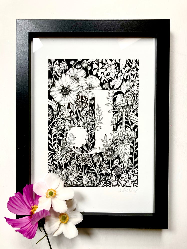 Image of Floral Letters - Art Print
