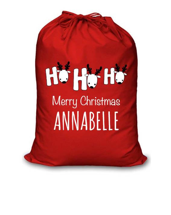 Image of Personalised Christmas Santa Sack - Ho Ho Ho