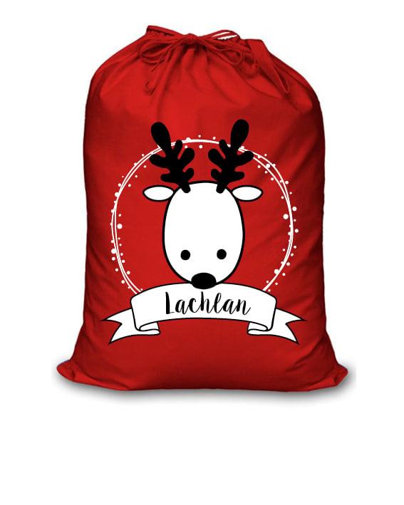 Image of Personalised Christmas Santa Sack - Reindeer Name