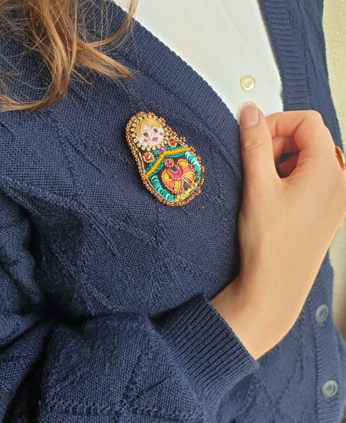 Image of Broche MATRIOCHKA OLGA