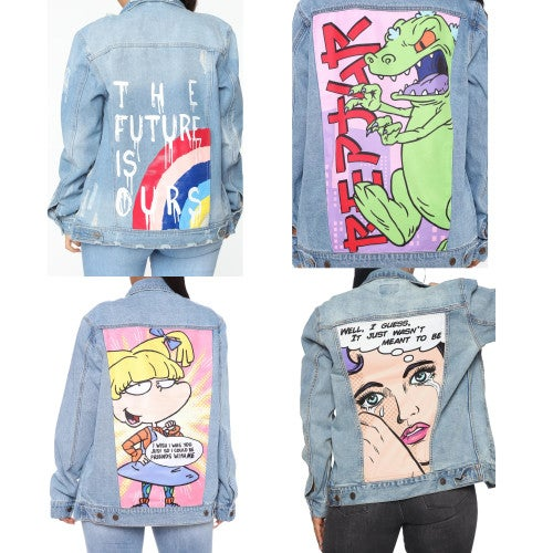 "Image of ""90s Baby"" Overside Denim Jacket"