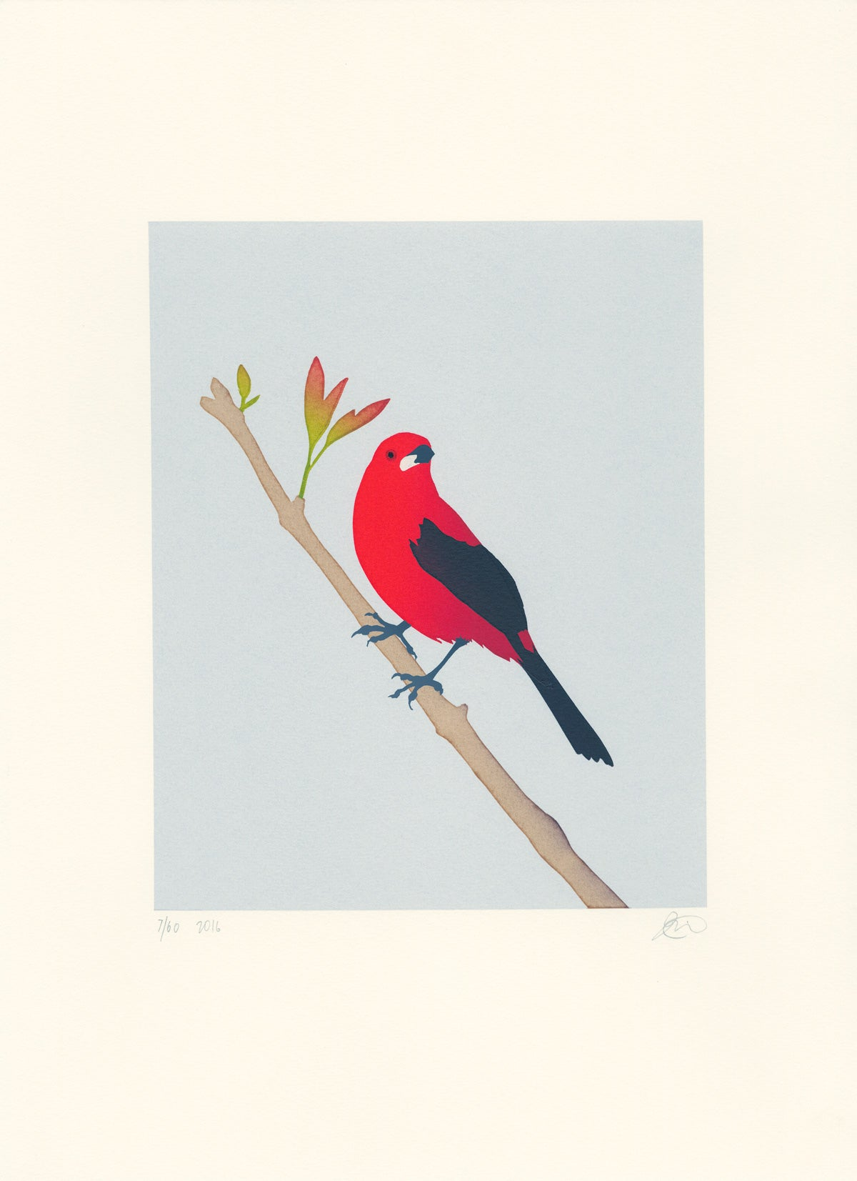 Image of Brazilian Tanager Screen Print