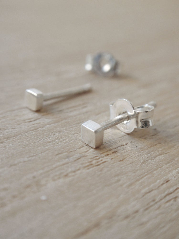 Image of Tiny Square Earrings