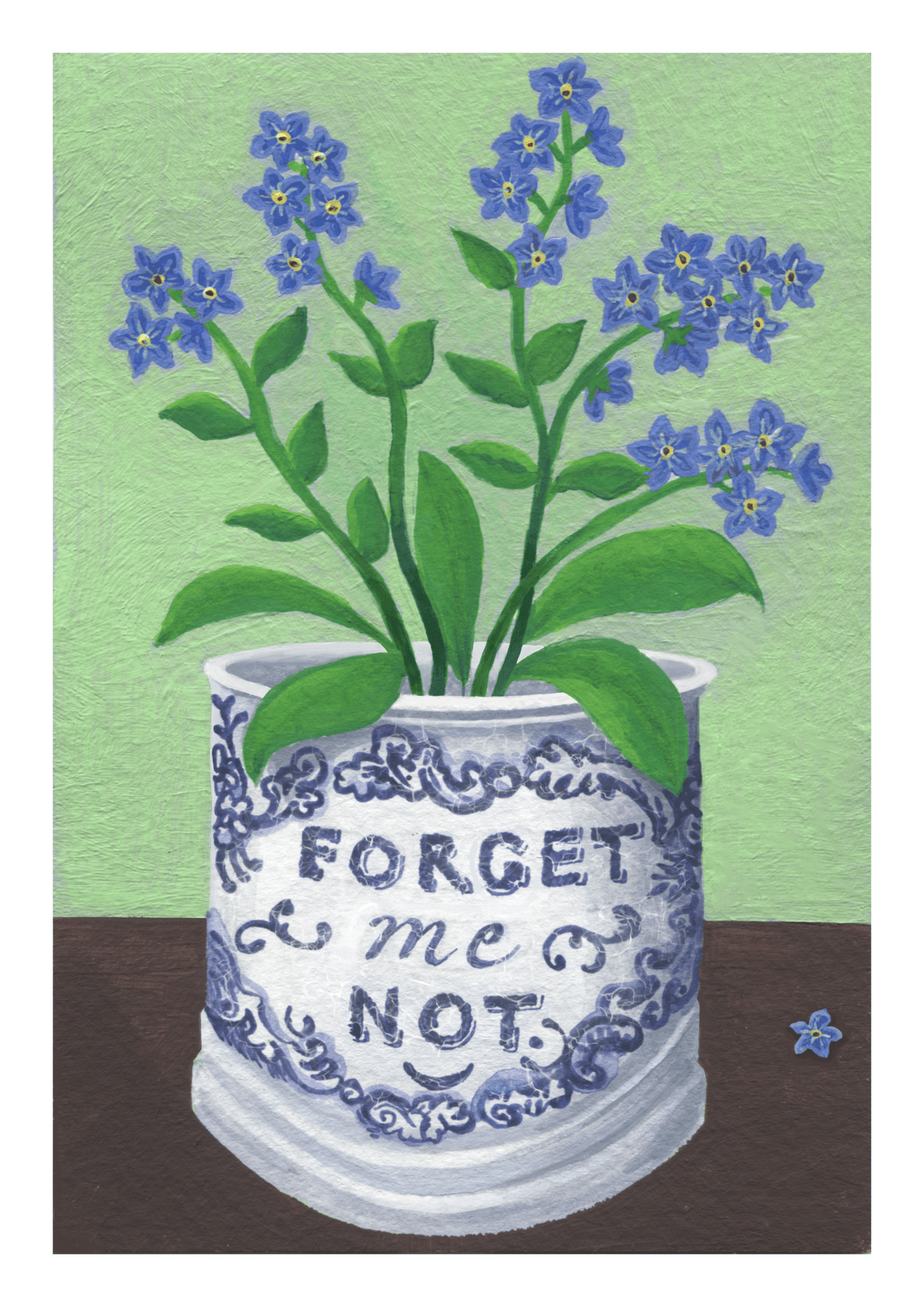 Forget-Me-Nots in Staffordshire Mug
