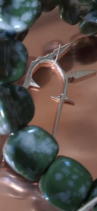 Image of Marguerite Bones - 6 Spike Earring