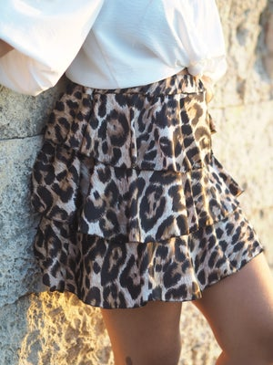 Image of Falda mini animal print