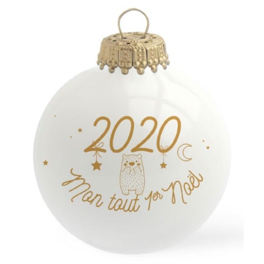 Image of Boule de Noël personnalisée 2020 Mon Tout Premier Noël