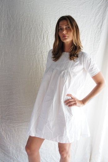 Image of French Cotton Day Dress
