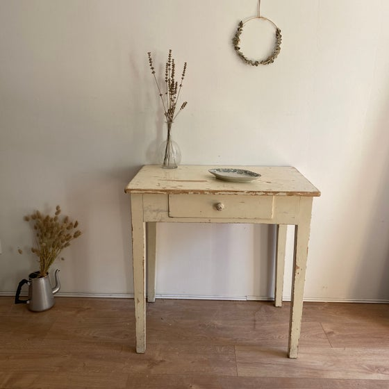 Image of Table/bureau patiné #913