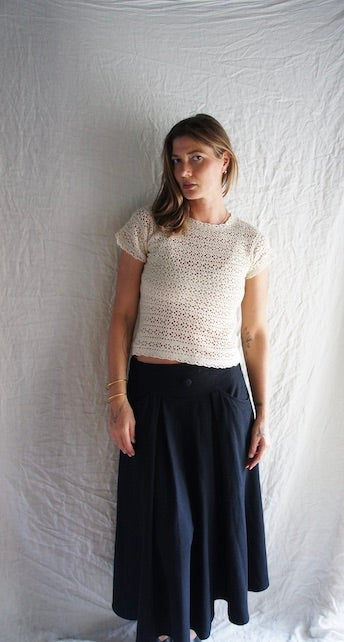 Image of French Embroidered  60's Vintage Top