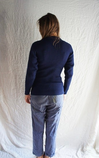 Image of Navy Blue Army Wool Sweater