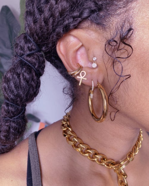 Image of BOOYAH • Hoop earrings