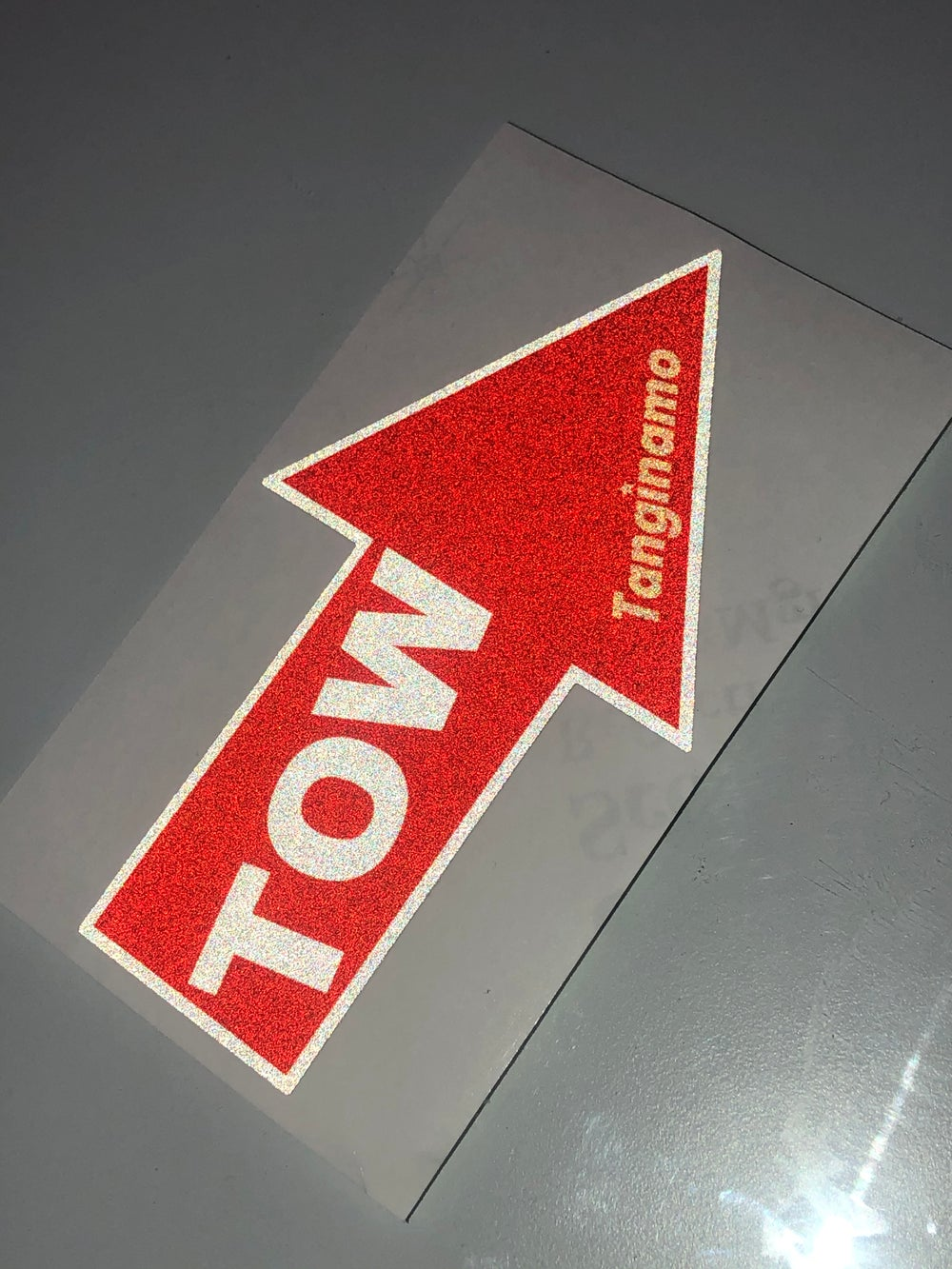 Image of TANGINAMO TOW STICKER REFLECTIVE
