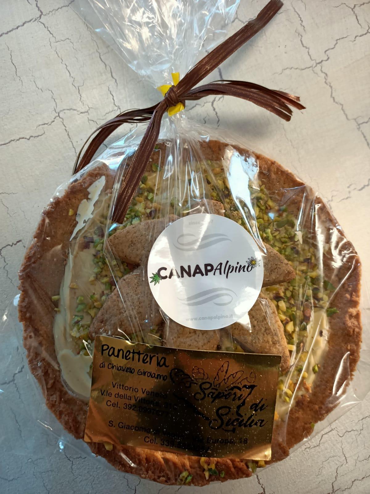 Image of Crostata-Crema di Pistacchi e frolla alla canapa