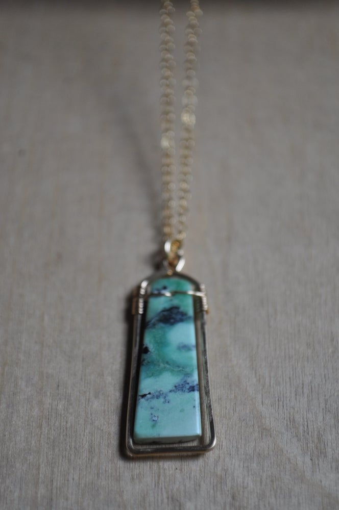 Image of One of a Kind Green Turquoise Necklace