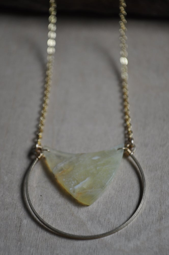 Image of One of a Kind Yellow Opal Necklace