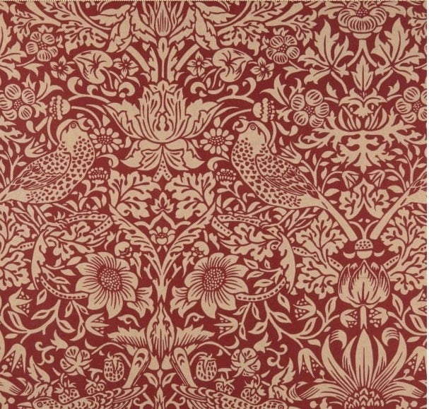 Image of Standen Strawberry Thief Red Shade