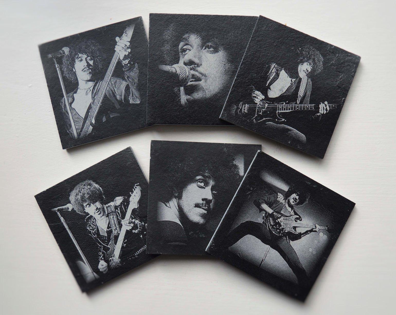 Image of Phil Lynott - 6 piece  Coaster Set