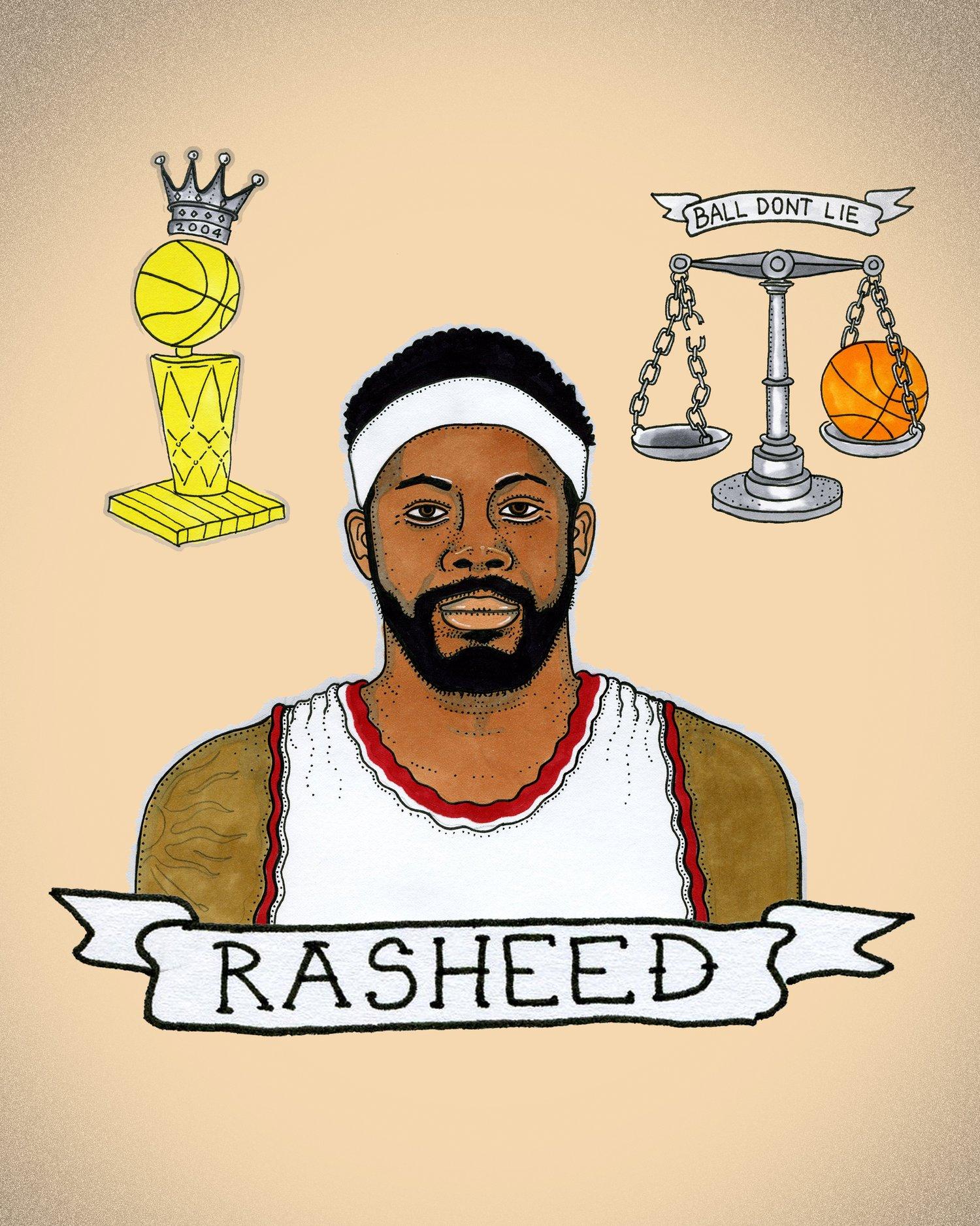 Rasheed Wallace print