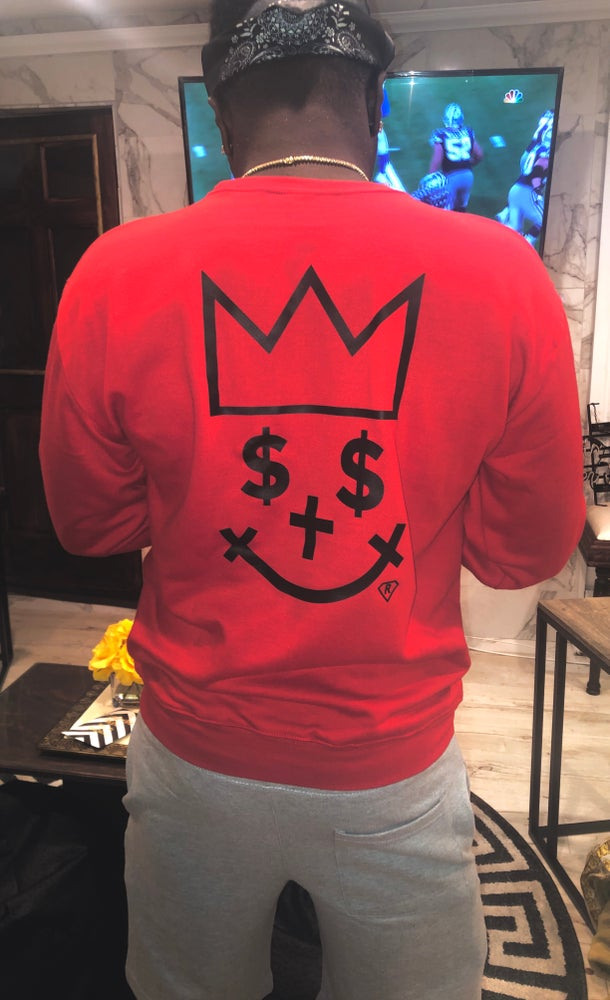 Image of (RED GIGPS QUARTER MILL  ALMIGHTY CREWNECK)