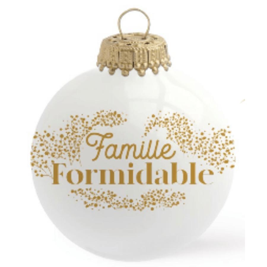 Image of Boule de Noël personnalisée Famille Formidable