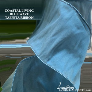 Image of Coastal Living  Blue Wave Taffeta Ribbon