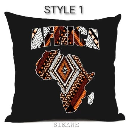 Image of NAADU COLLECTION-Map of Africa Cushion Covers