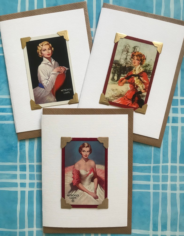 Image of Vintage Playing Cards Selection-Ladies