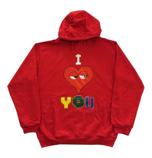 Image of ILY Hoodie (Red)
