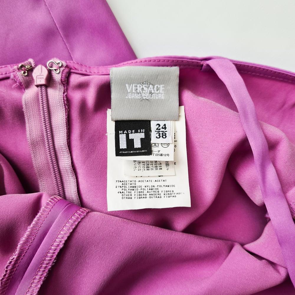 Image of Versace Purple Mini Dress