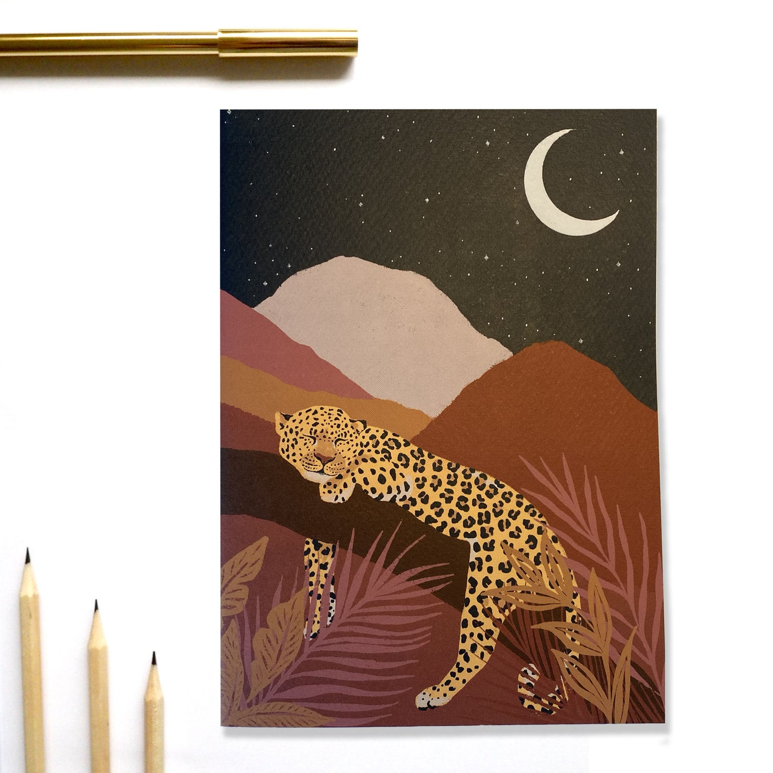 Image of A5 Night Leopard Notebook
