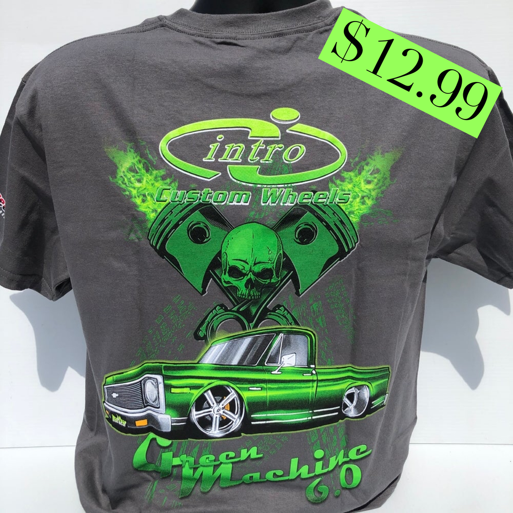 """Image of """"Green Machine"""" Gray or Red T-Shirt"""