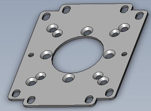 Image of Universal Joystick Flat Bracket