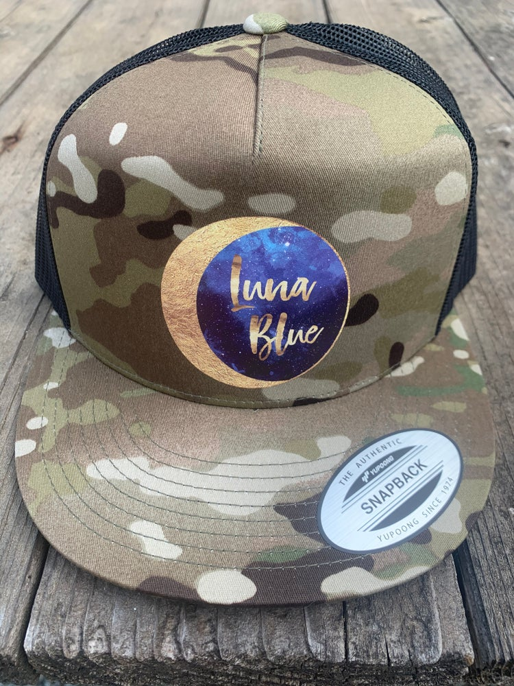 Image of Luna Blue Camo Trucker Style Hat