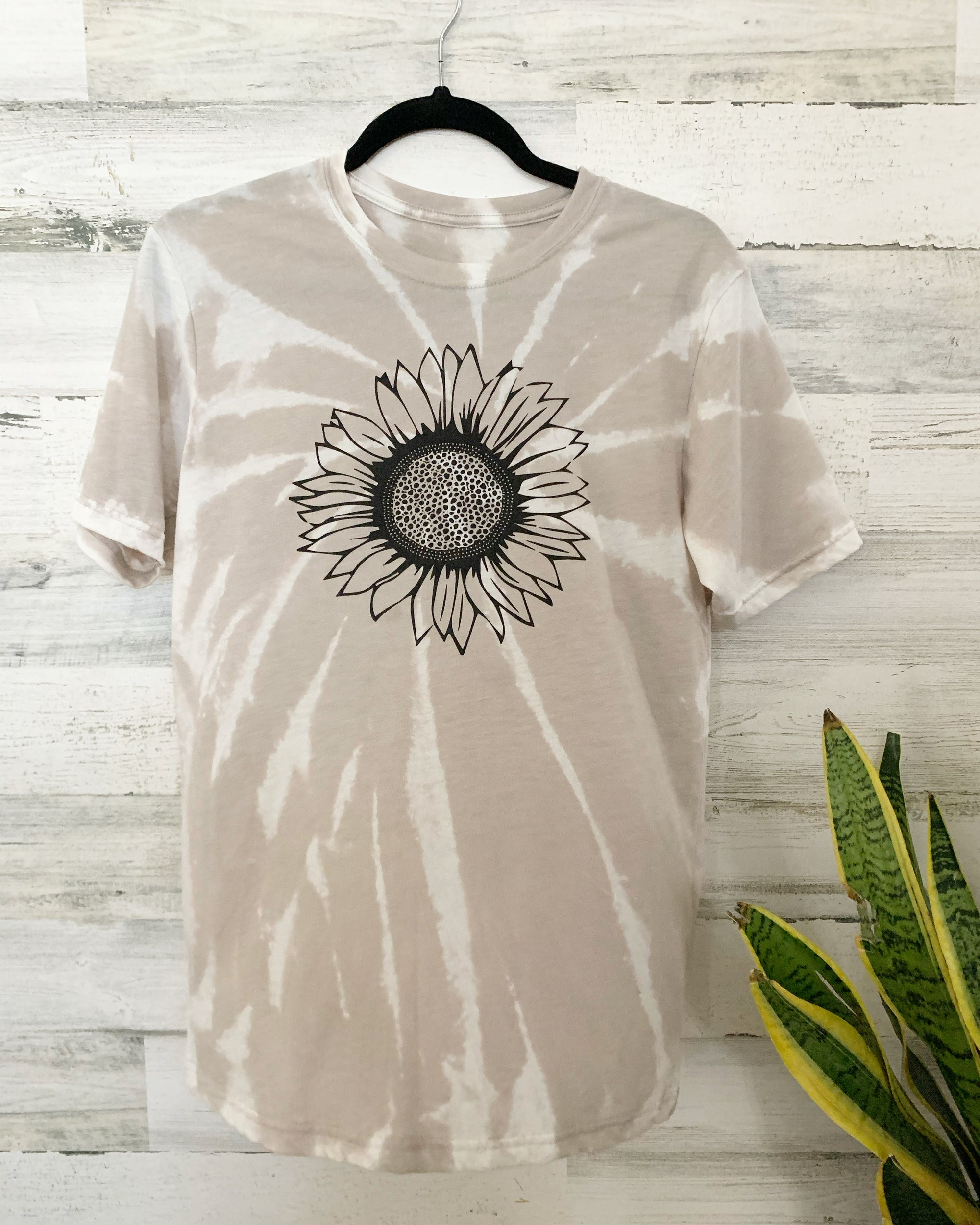 Image of Bleach dyed sunflower tee