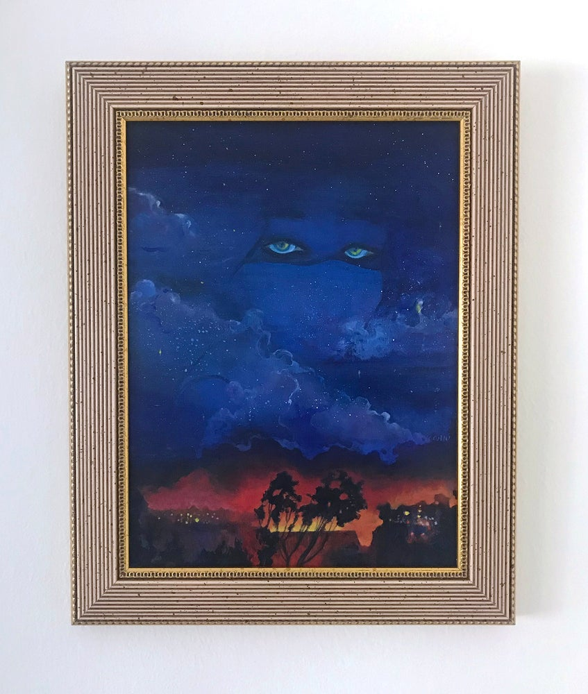 Image of Lucy in the Sky with Embers Painting