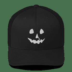 Image of HALLOWEEN PUMPKIN RETRO TRUCKER HAT