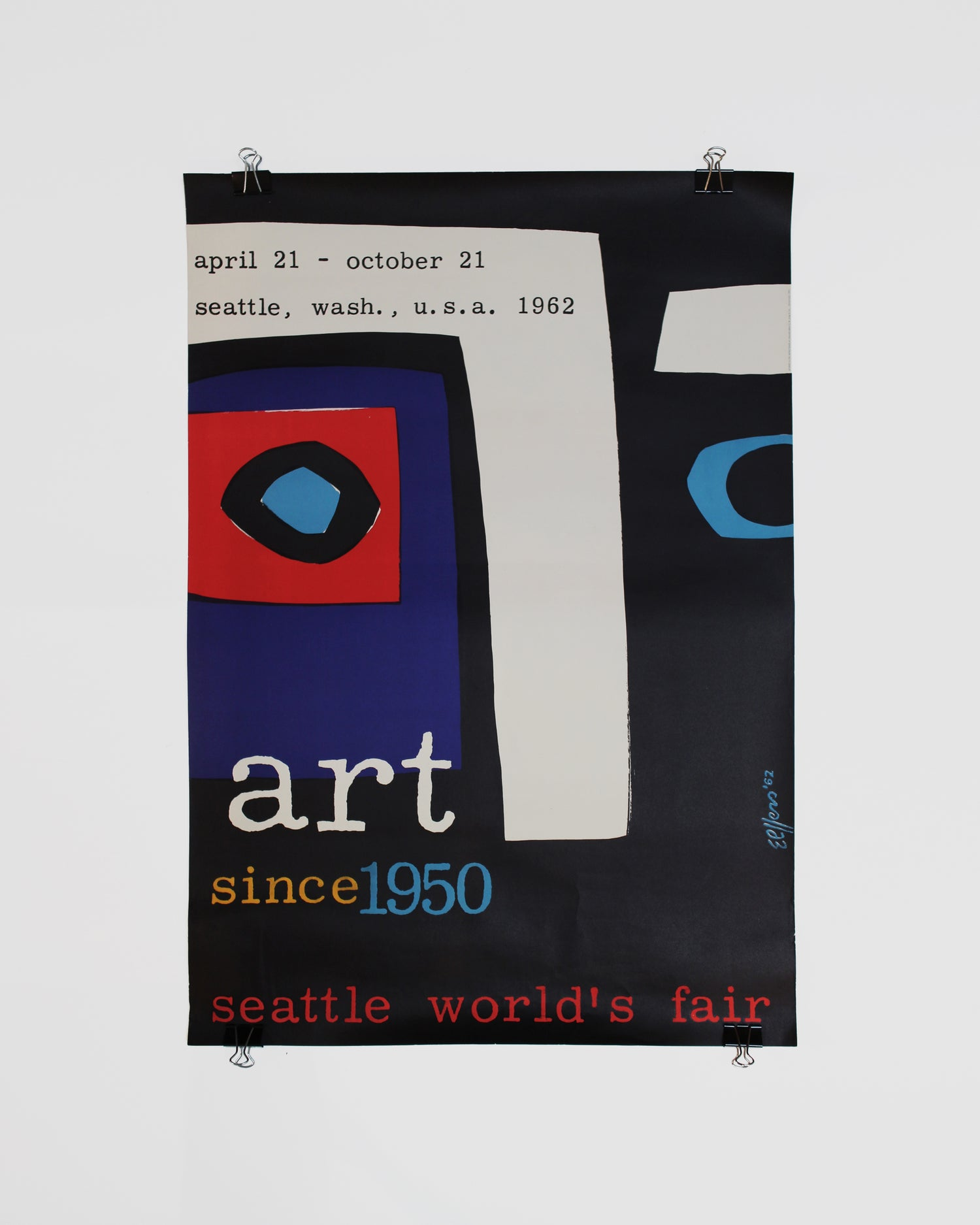 Original Lithograph Art Since 1950 Dick Elffers Seattle World's Fair Century 21 Poster ca. 1962